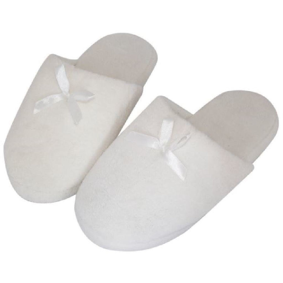 SLIPPER WHITE MED