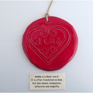 Red Aroha - Ceramic Wall Art