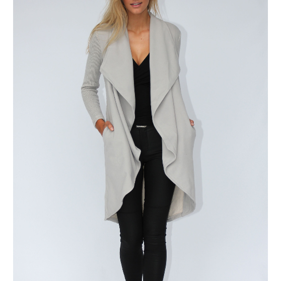 Sweet Jasmine Coat - Grey