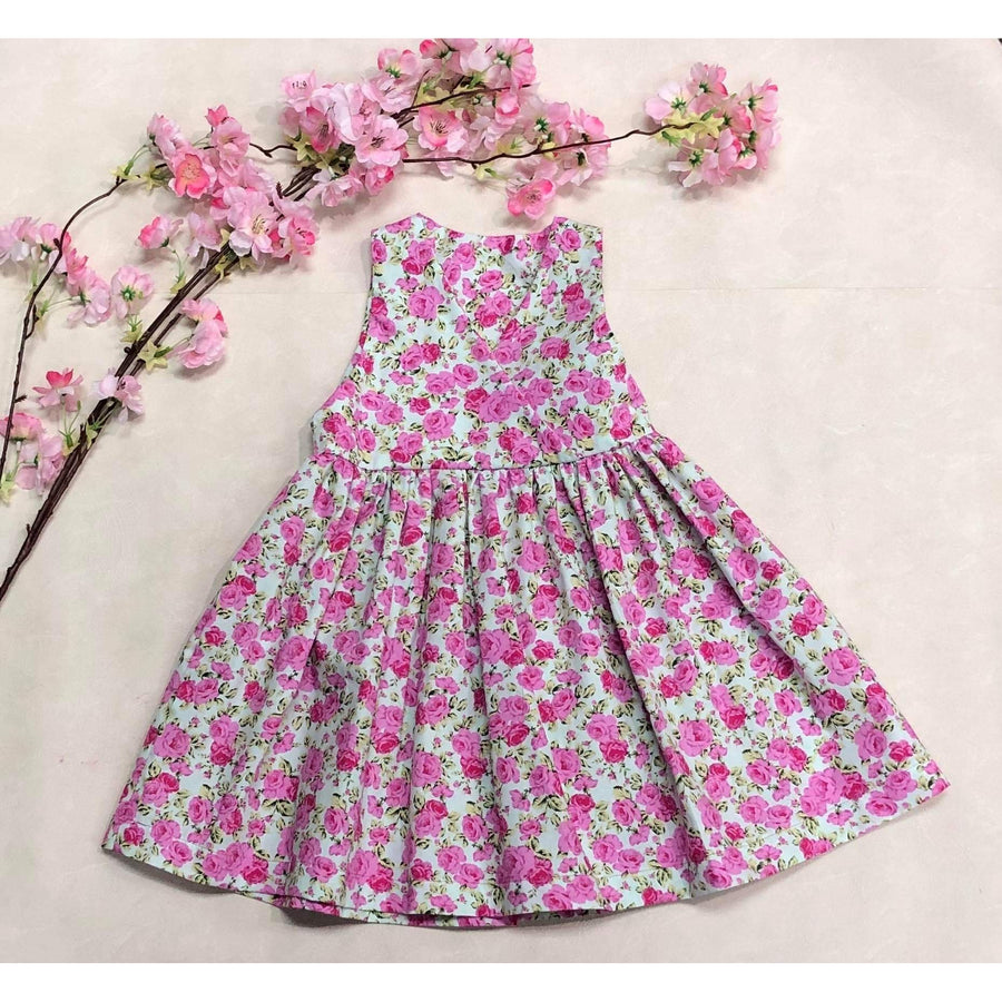 Lilly Dress - Large Pink Flowers