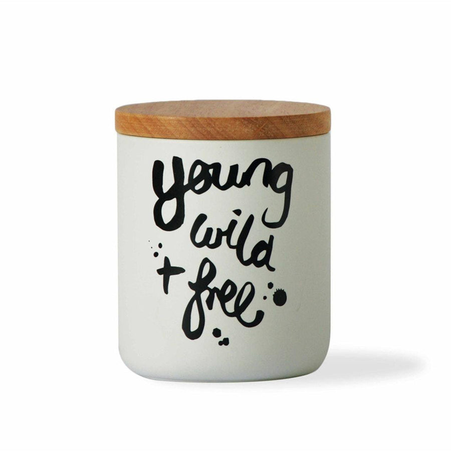YOUNG WILD AND FREE TALL CANISTER