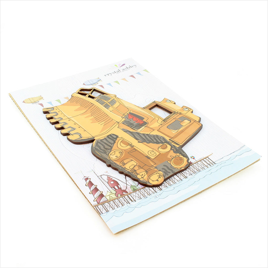 Bulldozer - Kids Pine Wall Art