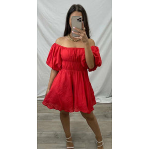Rosalie baby doll dress - Red