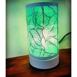 White Leaf White Touch Lamp