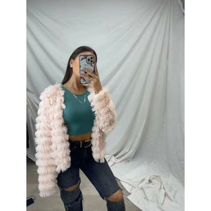 PRE ORDER Faux Fur Jacket - Blush