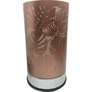 Palms and Ferns Rose Gold Touch Lamp