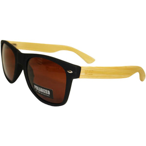 Wooden Sunnies - Matte Black w/ Plain Arms