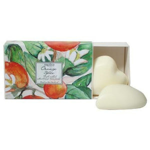 ORANGE SPICE HEART SOAPS 2 PACK
