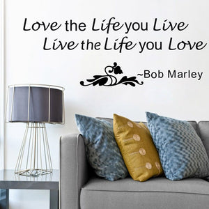 Bob Marley Quote Wall Decal