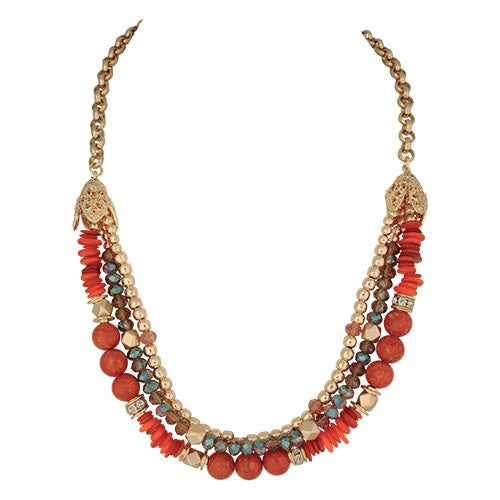 SEVILLE NECKLACE ORANGE