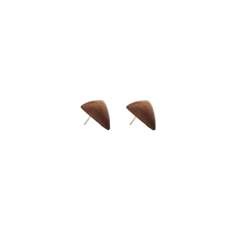 Timber Triangle Stud Earring Tan