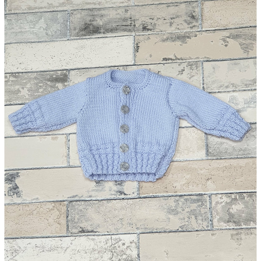 Knitwear - Blue Cable Ribbed Cardie 0-3 months