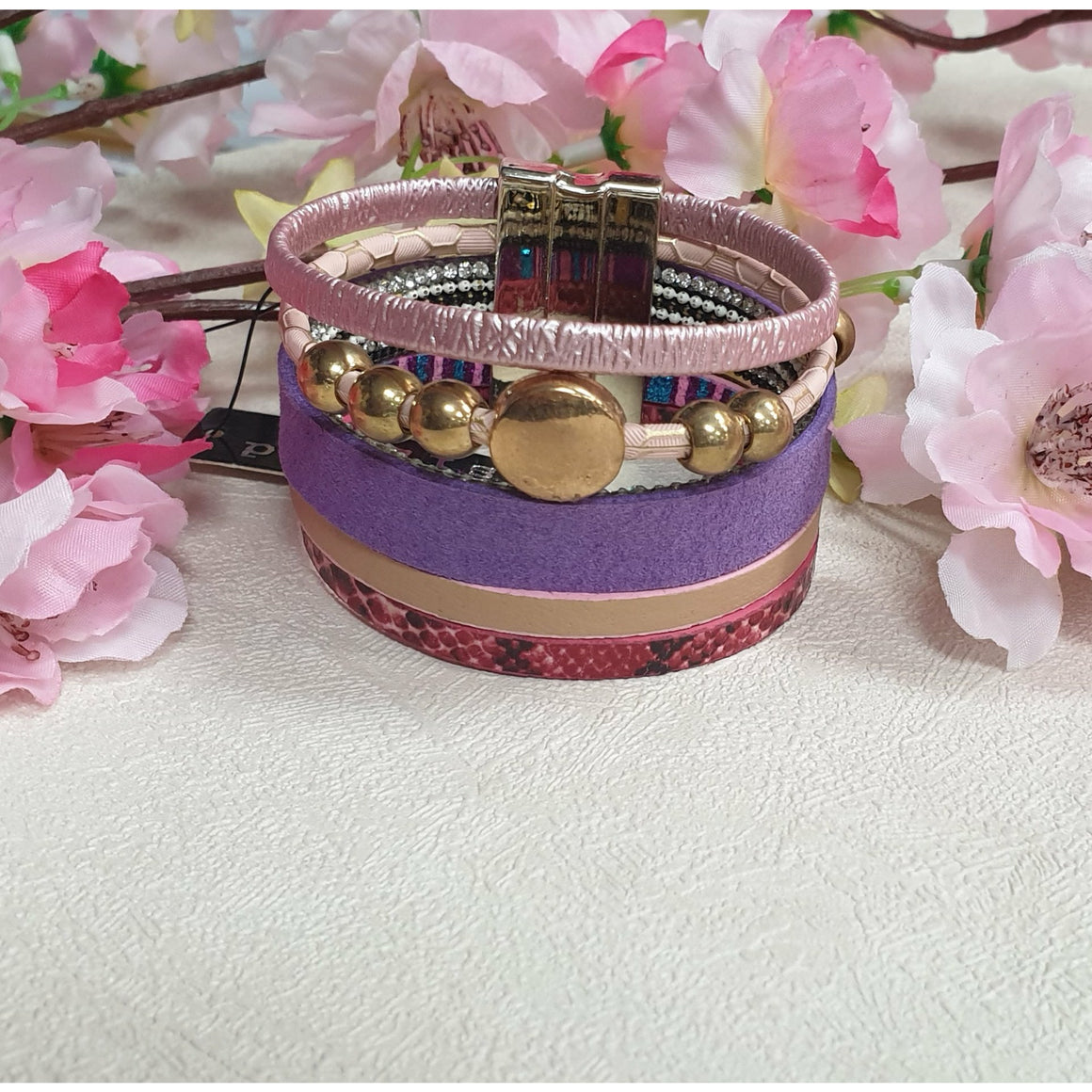 Evelyn Bracelet  - Purples