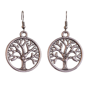 Tree Earrings - Silver