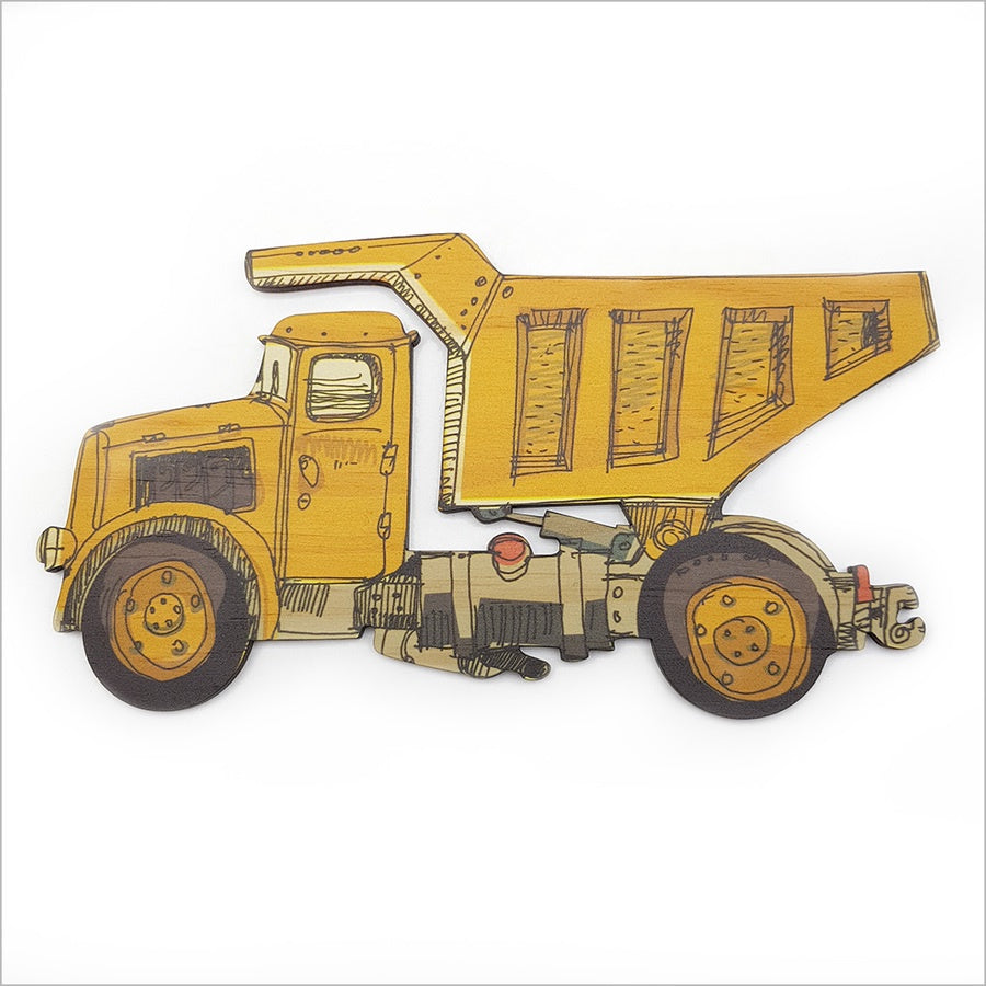 Dump Truck -  Kids Pine Wall Art