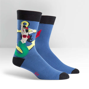 MENS CREW SOCKS-HEY SAILOR