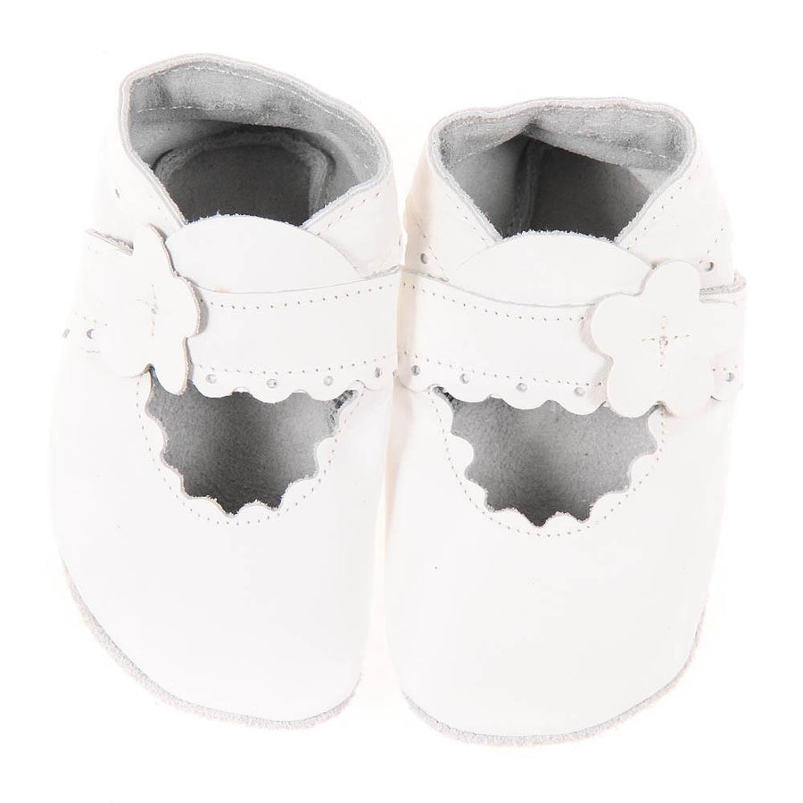 Mary Jane Pitter Patter Booties - White