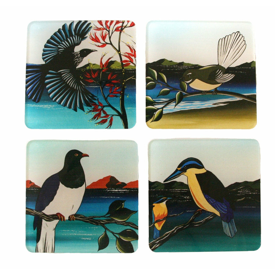 Coaster Set - New Zealand Birds