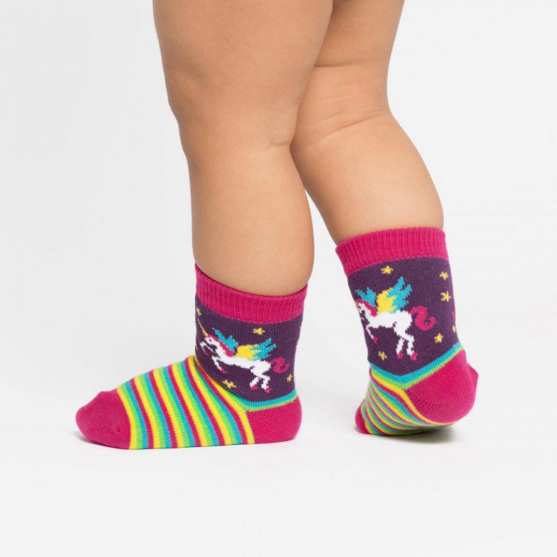 Toddler Crew Socks - Unicorn Winging it / Size 1-2