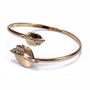 Crystal Gold Leaf Bangle