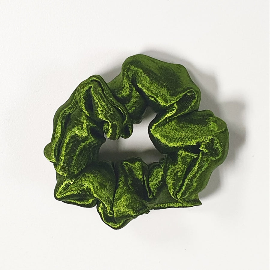Scrunchie - Lime Green Velvet
