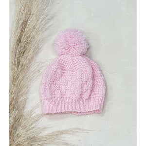 New Born Baby Beanies - Baby Pink