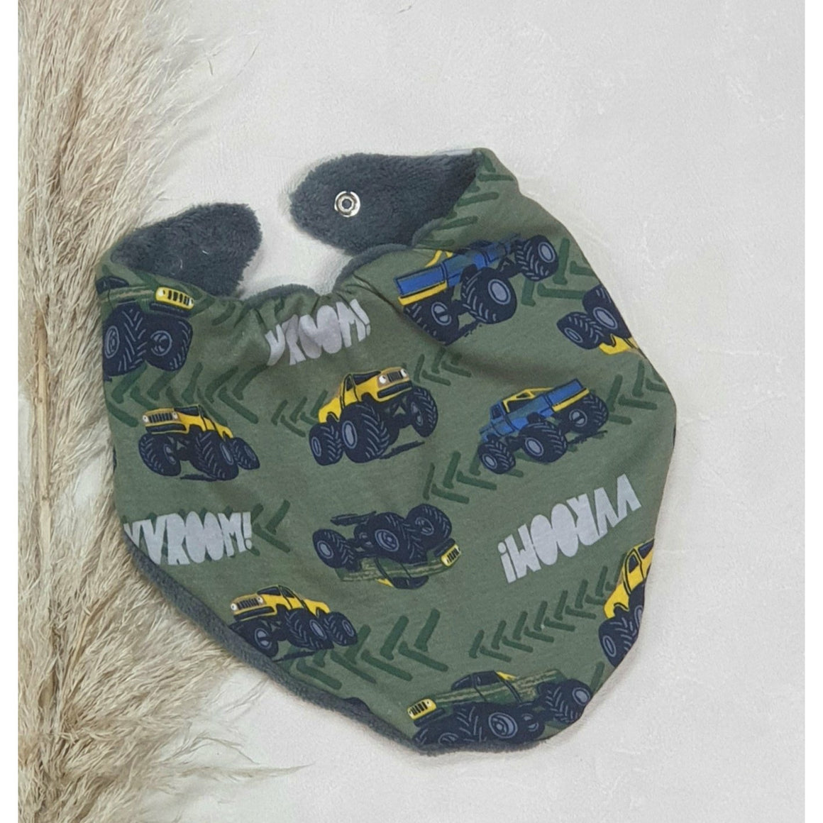 Baby Dribble Bibs - Monster Trucks