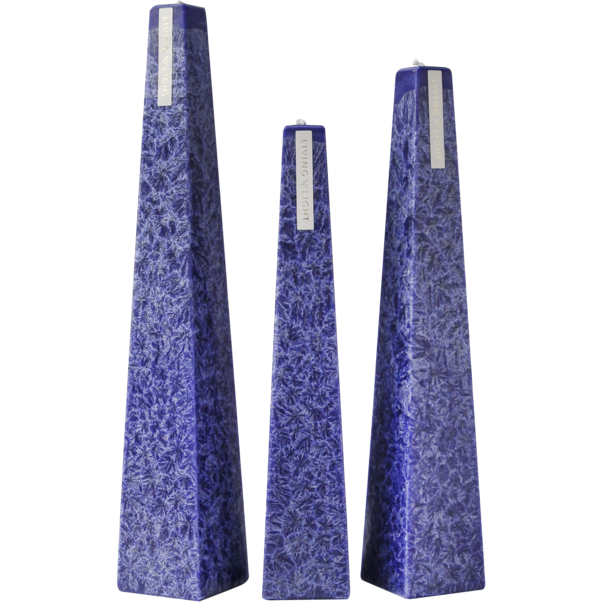 Granite Icicle Candle Dark Blue - Night Bloom