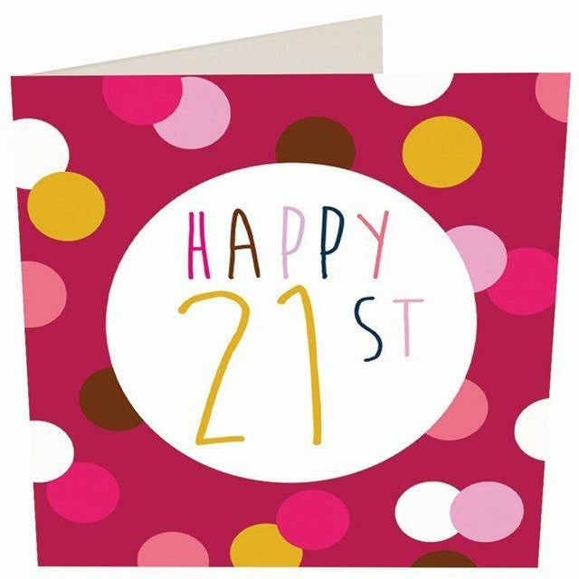 Card - Happy 21st Female