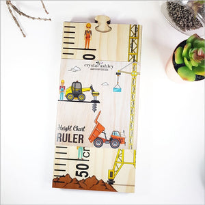 Height Chart Jigsaw - Construction Site