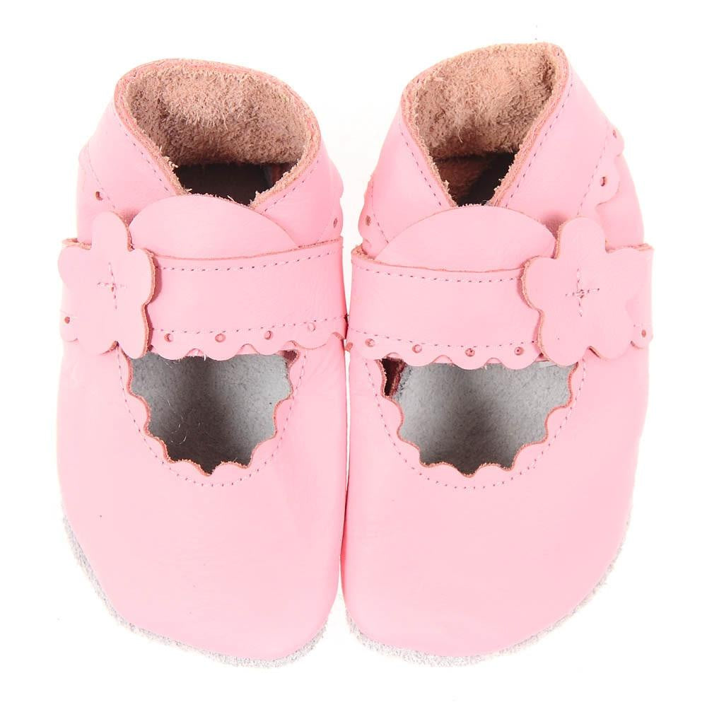 Mary Jane Pitter Patter Booties - Pale Pink