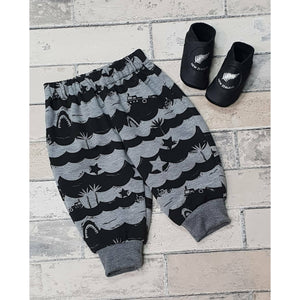 Cody Pants - Grey w/ Black waves