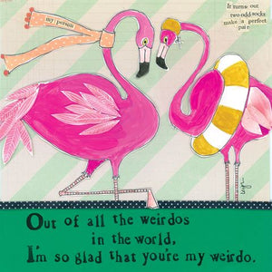 Card - Flamingo Weirdo Love