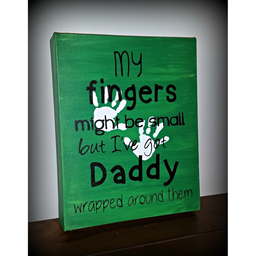 Daddy wrapped around them 8x10""