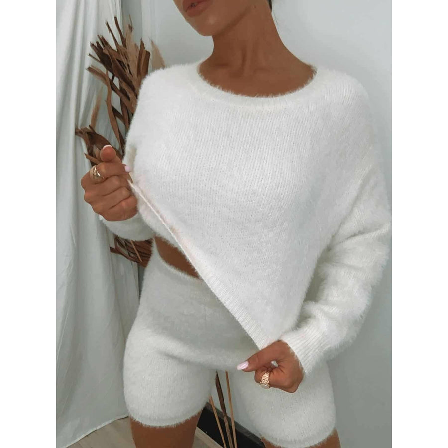 In the Bag Knit SET - White Size S (6-8)