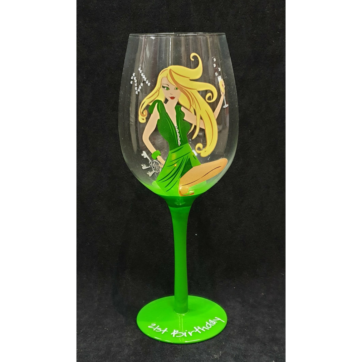 LADY WINE GLASS 21