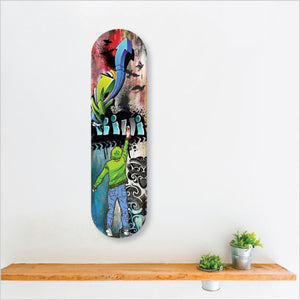 SKATEBOARD ACM ART GRAFFITI KIWI