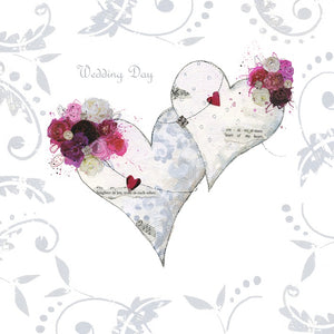 CARD - WEDDING DAY HEARTS