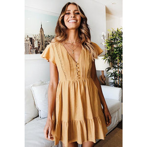 Wista Mini Dress - Mustard