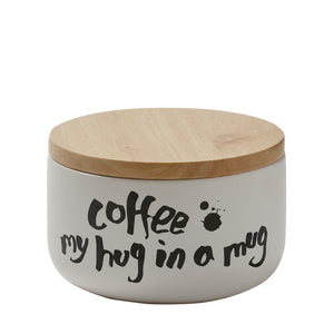 Short Canister White - Coffee my hug