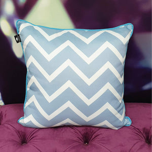MIAMI CHEVRON AQUA OUTDOOR CUSHION