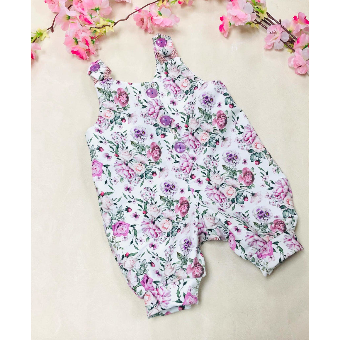 Spring Floral Overalls