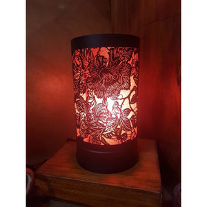 Butterfly and Roses Black Touch lamp