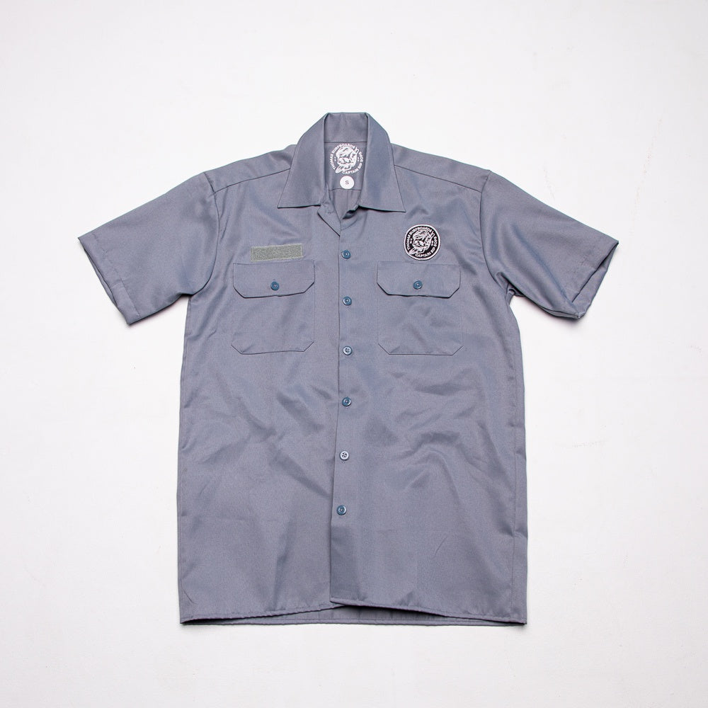 Thomas Surfboards & Captain Sip Sops Colab Stay Bold Work Shirt Grey