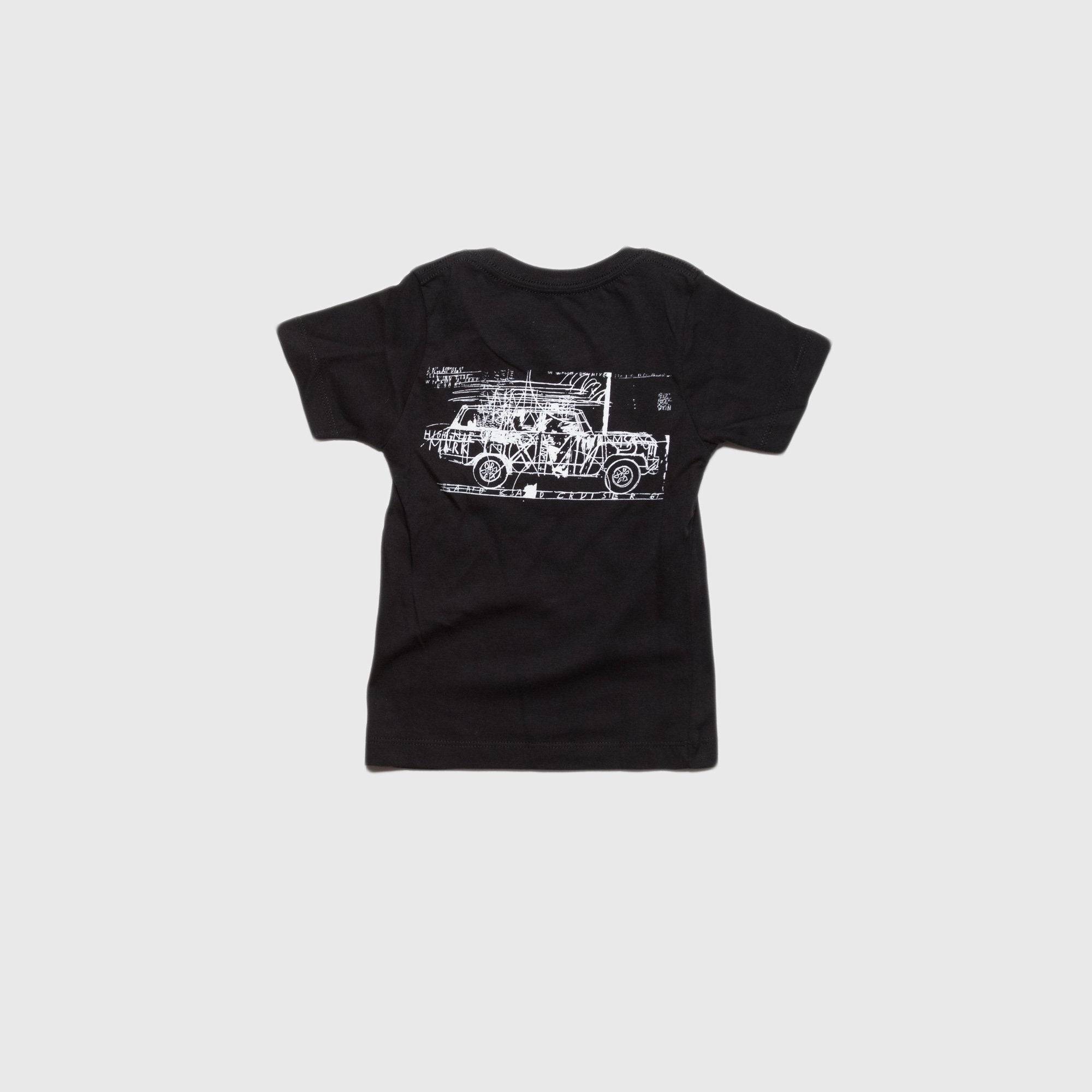 Thomas x Bob Moore Abstract Car Kids T-Shirt Black