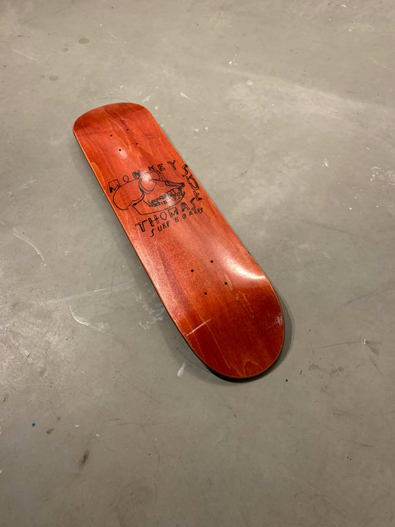 Monkey Skull Red Skate Deck
