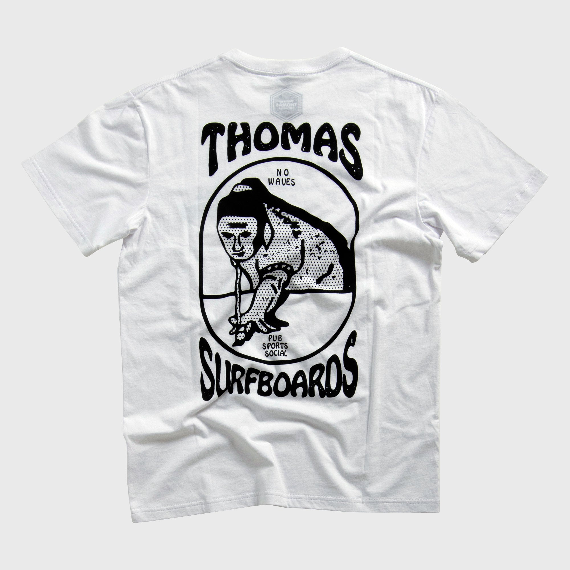 Thomas Pub Sports Social Snooker T-Shirt White
