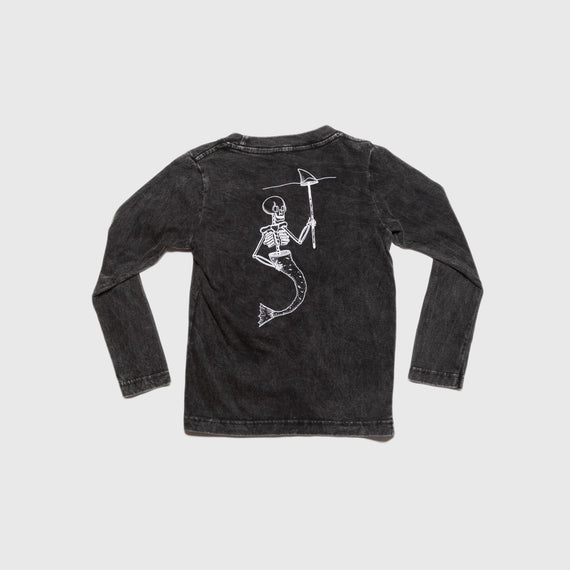 Thomas Juka Kids Long Sleeve T-Shirt Acid Black