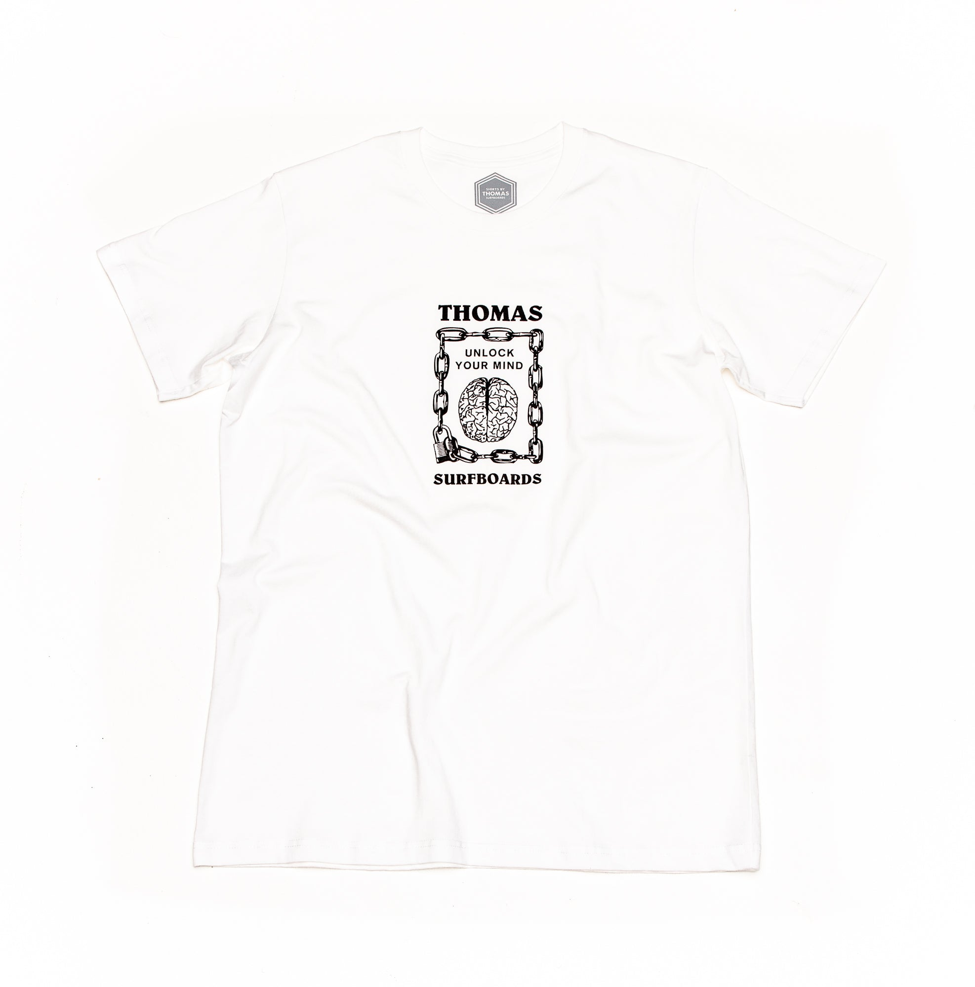 Thomas Unlock Your Mind T-Shirt White