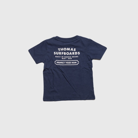 Thomas Kids Respect Your Mum T-Shirt Navy